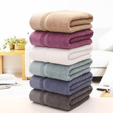 Load image into Gallery viewer, Solid Cotton Bath Towel For Adults Thickened Bathroom Towels  Beach Towels 100% Organic Cotton Soft Quick-Dry Toalha De Praia