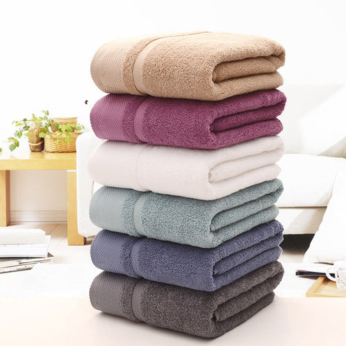 Solid Cotton Bath Towel For Adults Thickened Bathroom Towels  Beach Towels 100% Organic Cotton Soft Quick-Dry Toalha De Praia