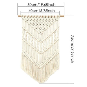 Home Decoration Bohemian Macrame Woven Wall Hanging Boho Room Geometric Tapestry Nordic Art Beautiful Apartment Room Decor Gift