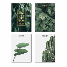 Load image into Gallery viewer, TAAWAA Green Leaves Poster Nordic Cactus Plant Canvas Wall Art Print Nature Decorative Painting for Living Room Home Decoration