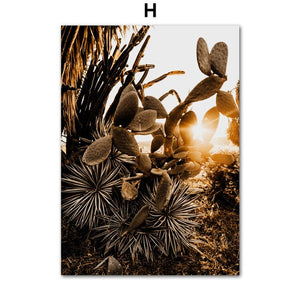Mountain Road Car Cactus Plant Leaf Quote Wall Art Canvas Painting Nordic Posters And Prints Wall Pictures For Living Room Decor