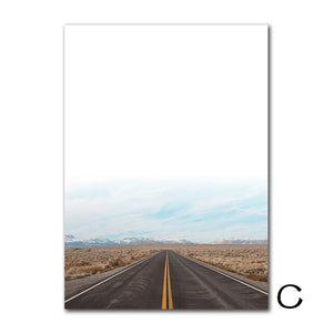 Landscape Canvas Prints Desert Cactus Canvas Painting Highway Wall Pictures Posters And Prints Wall Art Decoration Unframed