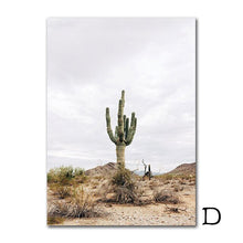 Load image into Gallery viewer, Landscape Canvas Prints Desert Cactus Canvas Painting Highway Wall Pictures Posters And Prints Wall Art Decoration Unframed