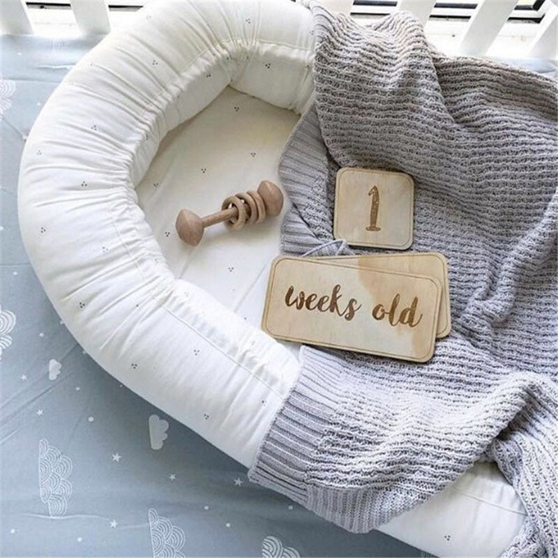 Nordic Style Number Wooden Baby Birthday Newborns baby Milestone show Props party Memorial Photography Card