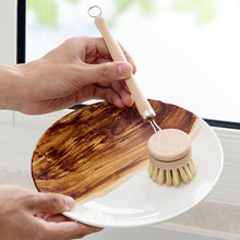 Load image into Gallery viewer, Long Handle Pan Pot Brush Dish Bowl Washing Cleaning Brush Natural Wooden Household Kitchen Cleaning Tools