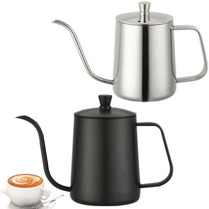 Hot 600ml Pour Over Kettle Coffee Maker Stainless Steel Gooseneck Drip Tea Pot Jug