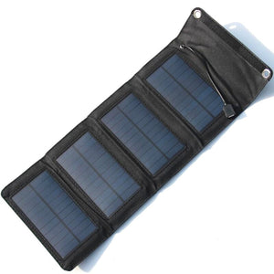 7W PVC Waterproof Folding Solar External Charger Power Panel For Phone