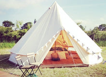 Load image into Gallery viewer, 3M 4M 5M 6M cotton canvas bell tent,camping tent ,canvas tent,wedding tent