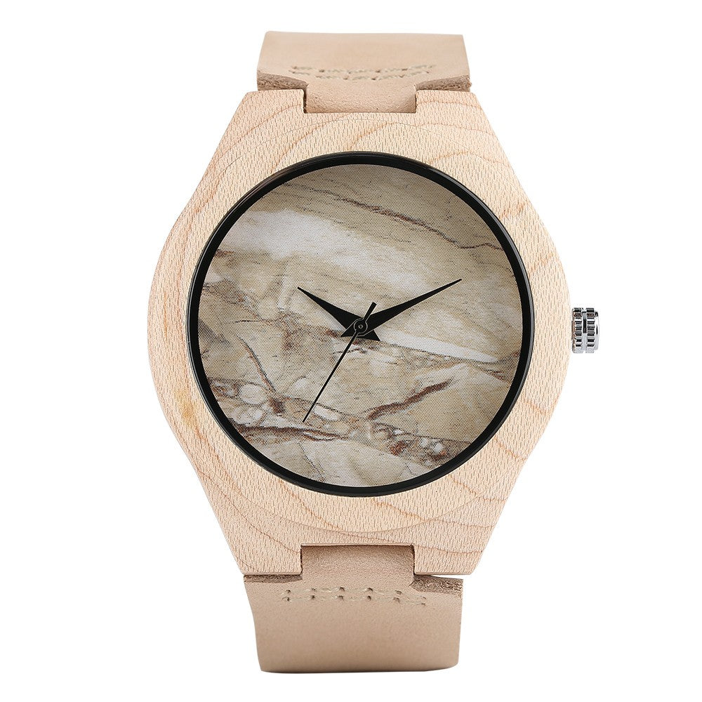 Unique Quartz Watches Bamboo Watch Bamboo Wristwatch Bracelet-Beige