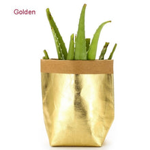 Load image into Gallery viewer, Mini Succulents Planter Pot Washable Kraft Paper Flowerpot Creative Desktop Flower Pots Reuseable Multifunction Home Storage Bag