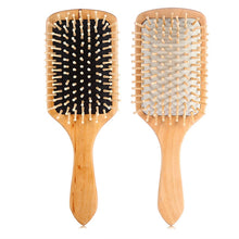 Load image into Gallery viewer, Massage Comb Paddle Brush Antistatic Combanti-static Natural Wooden Massage Hairbrush Comb Scalp Health Care Paddle Brush