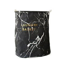 Load image into Gallery viewer, Nordic Foldable Laundry Basket Cartoon Marble Printed Folding Dirty Clothes Storage Bag Barrel Drop Shipping