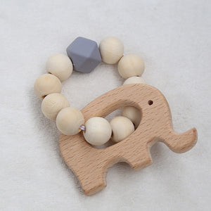 NEW Nordic Style Wooden Beads Garland Cartoon Animals Shape Wall Hanging Pendant Ornaments Nursery Tent Props Kids Room Decor