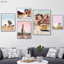 Load image into Gallery viewer, Joshua Tree Cactus Poster Print California Desert Canvas Painting Wall Art Pictures Modern Boho Minimalist Art Home Decor