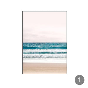 Nordi Beach Wall Art Posters Black and White Prints Ocean Wave Landscape Canvas Painting Decorative Pictures for Living Decor