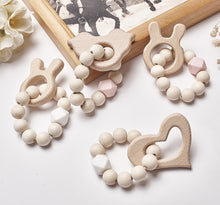 Load image into Gallery viewer, Cartoon Animals Shape Wooden Beads Garland INS Nordic Style Wall Hanging Pendant Ornaments  Kids Room Decor Nursery Tent Props