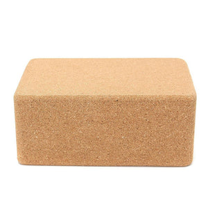 Yoga Block Pilates Cork Brick Home Stretch Aid Gym Fitness Exercise Cushion