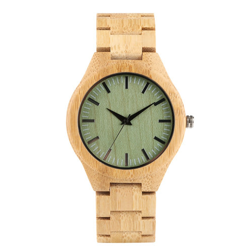 Vintage Men's Wooden Watch, Handmade Natural Wooden Wristwatch for Teenagers, Simplicity Wooden Watches for Boy