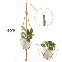 Load image into Gallery viewer, 1pc handmade macrame plant hanger Horticultural Greening Flowers Pot Hanging Basket Net wall Balcony countyard garden decoration