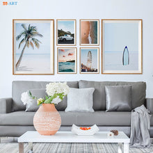 Load image into Gallery viewer, Ocean Wall Art Beach Posters and Prints Seascape Canvas Painting Coastal Wall Art Wall Pictures for Living Room Home Decoration