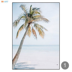 Ocean Wall Art Beach Posters and Prints Seascape Canvas Painting Coastal Wall Art Wall Pictures for Living Room Home Decoration
