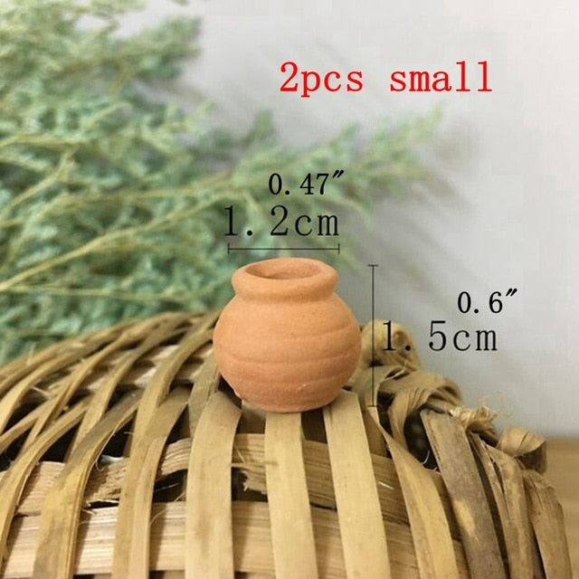 2pcs Terra-cotta Flowers Pot Succulent Plant Nursery Pots Mini Planter Pot Home Desktop Decor YYY9812