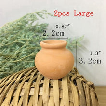 Load image into Gallery viewer, 2pcs Terra-cotta Flowers Pot Succulent Plant Nursery Pots Mini Planter Pot Home Desktop Decor YYY9812