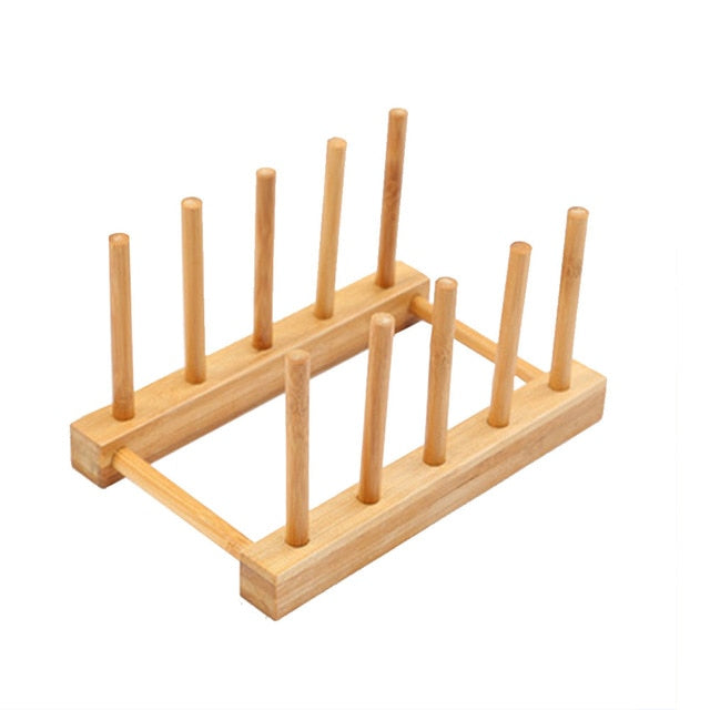 Layer Bamboo Dish Rack Drainboard Drying Drainer Storage Holder Stand Kitchen Cabinet Organizer for Dish/ Plate/ Bowl/ Cup