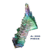 Load image into Gallery viewer, AUGKUN 1PC Bismuth Crystals 20/50g Bismuth Metal Crystal Brilliant Rainbow Bismuth Metal Crystal Jewelry Gemstone Ornaments
