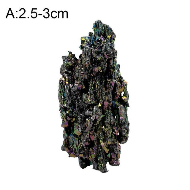 AUGKUN 1PC Natural Colorful Mineral Ore Ornaments Malachite with Colorful Light Home Kitchen Decoration Quartz Mineralstone