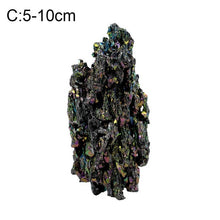 Load image into Gallery viewer, AUGKUN 1PC Natural Colorful Mineral Ore Ornaments Malachite with Colorful Light Home Kitchen Decoration Quartz Mineralstone