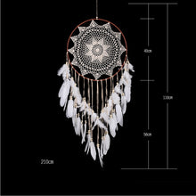 Load image into Gallery viewer, large dream catcher big kids room decoration girl nordic decoration home nordic style kids decoration wind chimes dreamcatcher