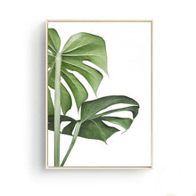 Load image into Gallery viewer, Nordic Home Decoration Palm Green Plants Landscape Coffee Posters Wall Art Pictures Canvas Painting Kitchen Restaurant Decor