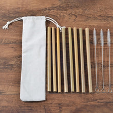 Load image into Gallery viewer, 6-Pack Eco Friendly Bamboo Toothbrush Sets Plastic-Free Bamboo Tooth Brush Clareador De Dente LOGO Custom Wholesale