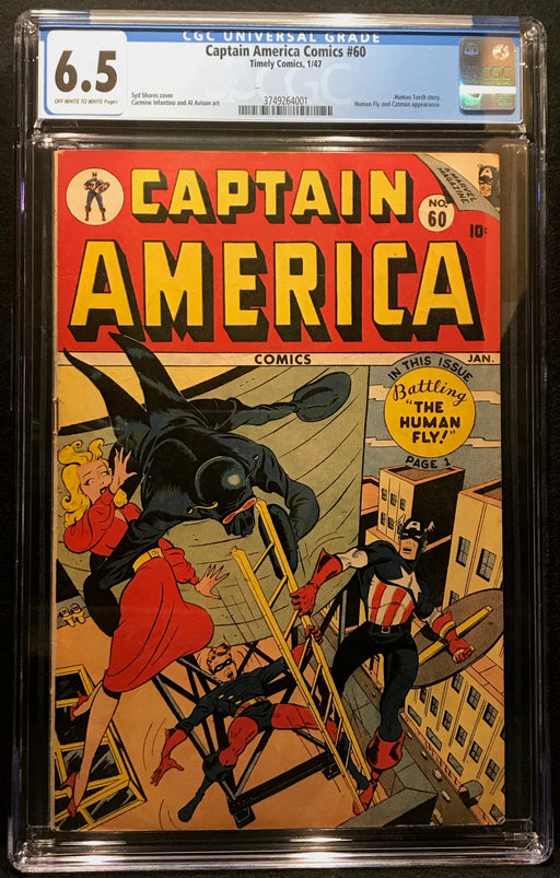 Captain America Comics # 60 CGC 6.5