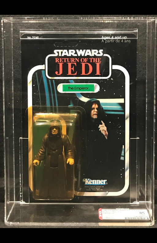 Kenner Canada Star Wars ROTJ Emperor Unpunched 77 Back-A AFA 85