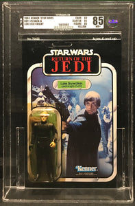 Kenner Star Wars ROTJ Luke Jedi Knight Unpunched 79 Back-A AFA 85