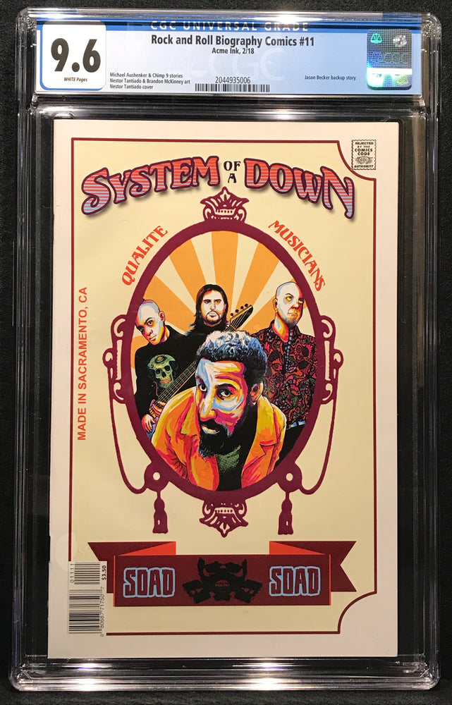Rock and Roll Biography Comics: System of a Down # 11 CGC 9.6