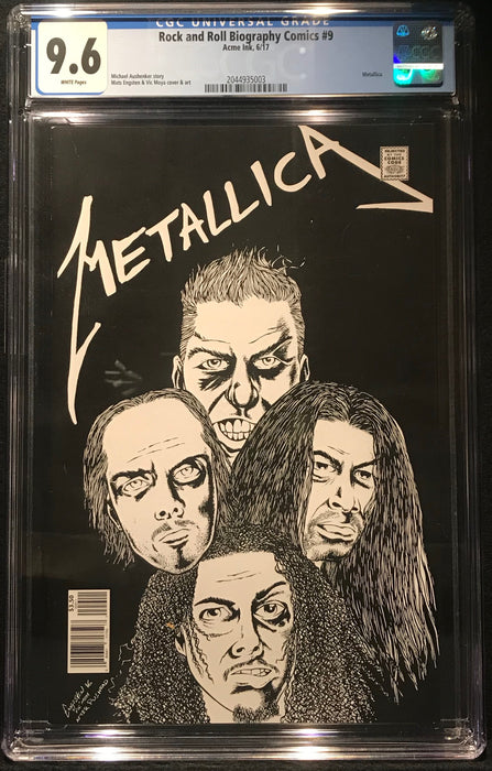 Rock and Roll Biography Comics:Metallica #  9 CGC 9.6