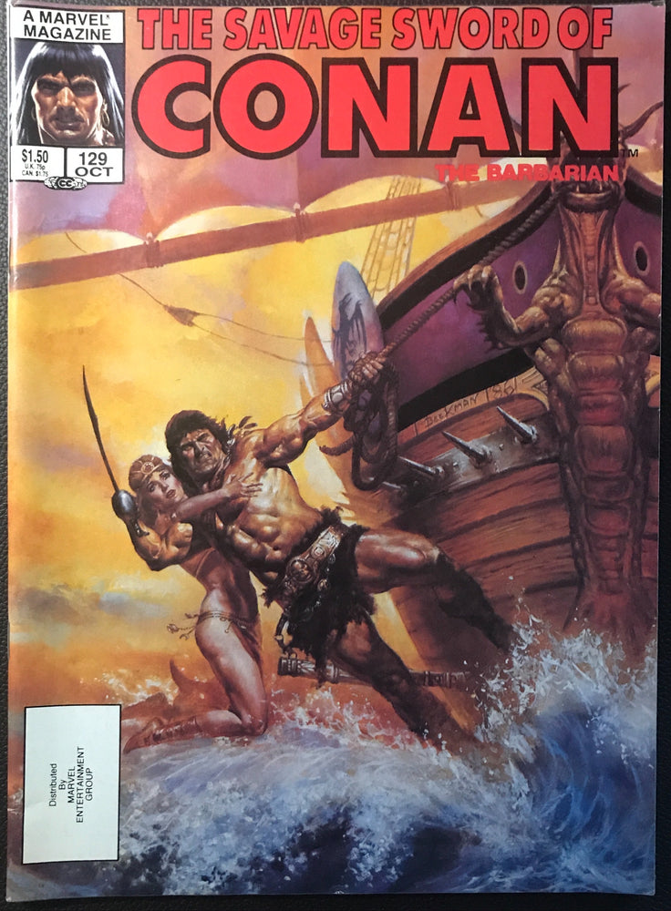 Savage Sword of Conan #129 VF- (7.5)