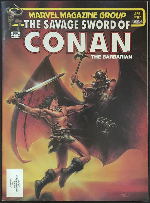 Savage Sword of Conan # 87 VF+ (8.5)