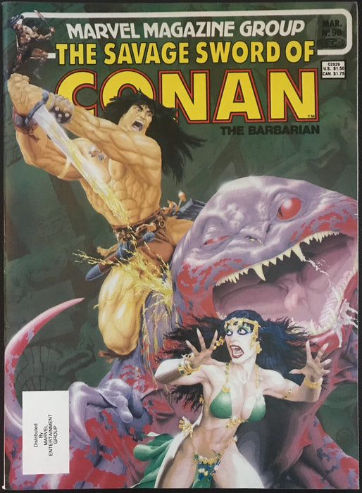Savage Sword of Conan # 98 VF+ (8.5)