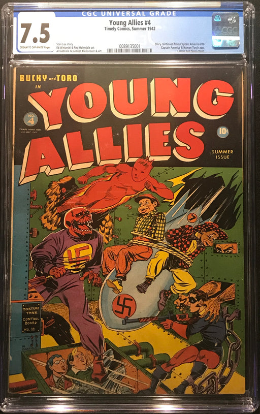 Young Allies #  4  CGC 7.5