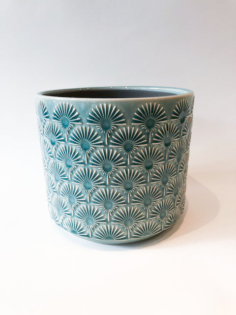Fan Crackle Glaze Pot