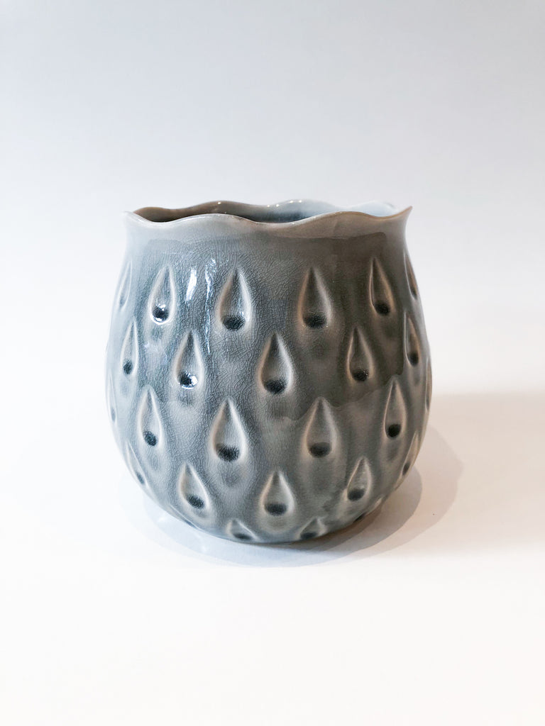 Teardrop Crackle Glazed Pot