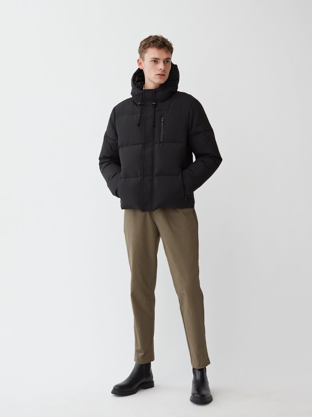 Salerno Puffer Down Jacket | Sort