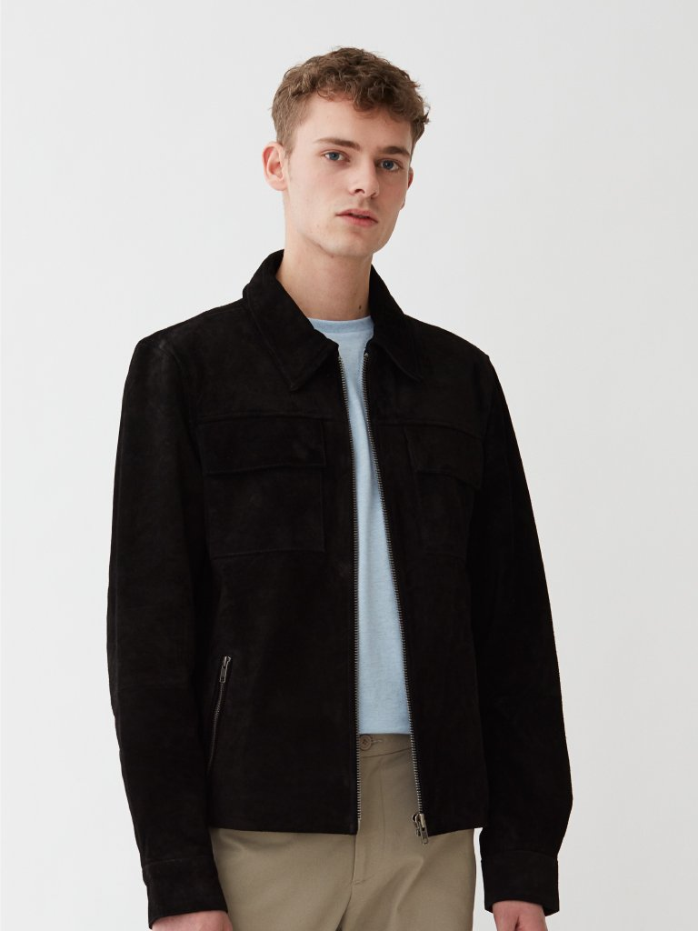 Trinity Suede Jacket | Sort