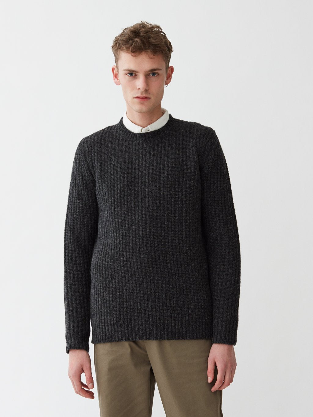 Cartona Lambswool Knit | Charcoal