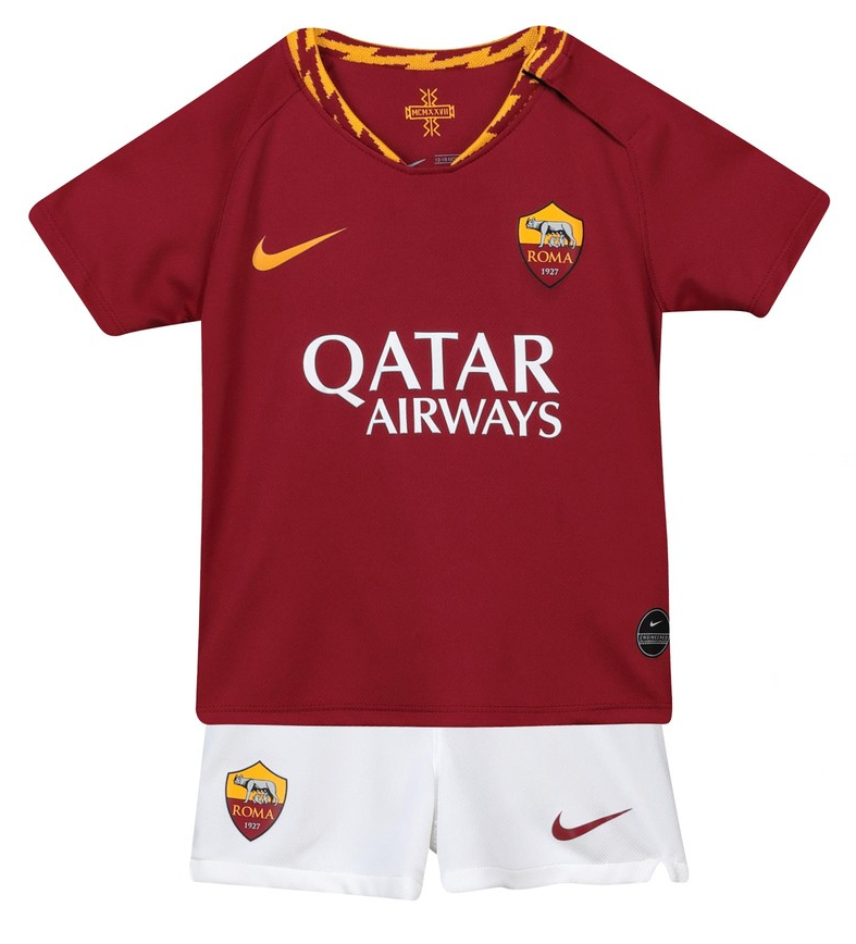 9a4db07a5 Kids AS Roma Home 2019/2020 Youth Jersey Football Soccer Kit 19-20 ...