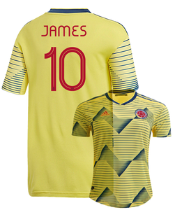 best service 38755 6786b JAMES #10 Colombia Home 2019 Men Jersey Football Soccer 19/20